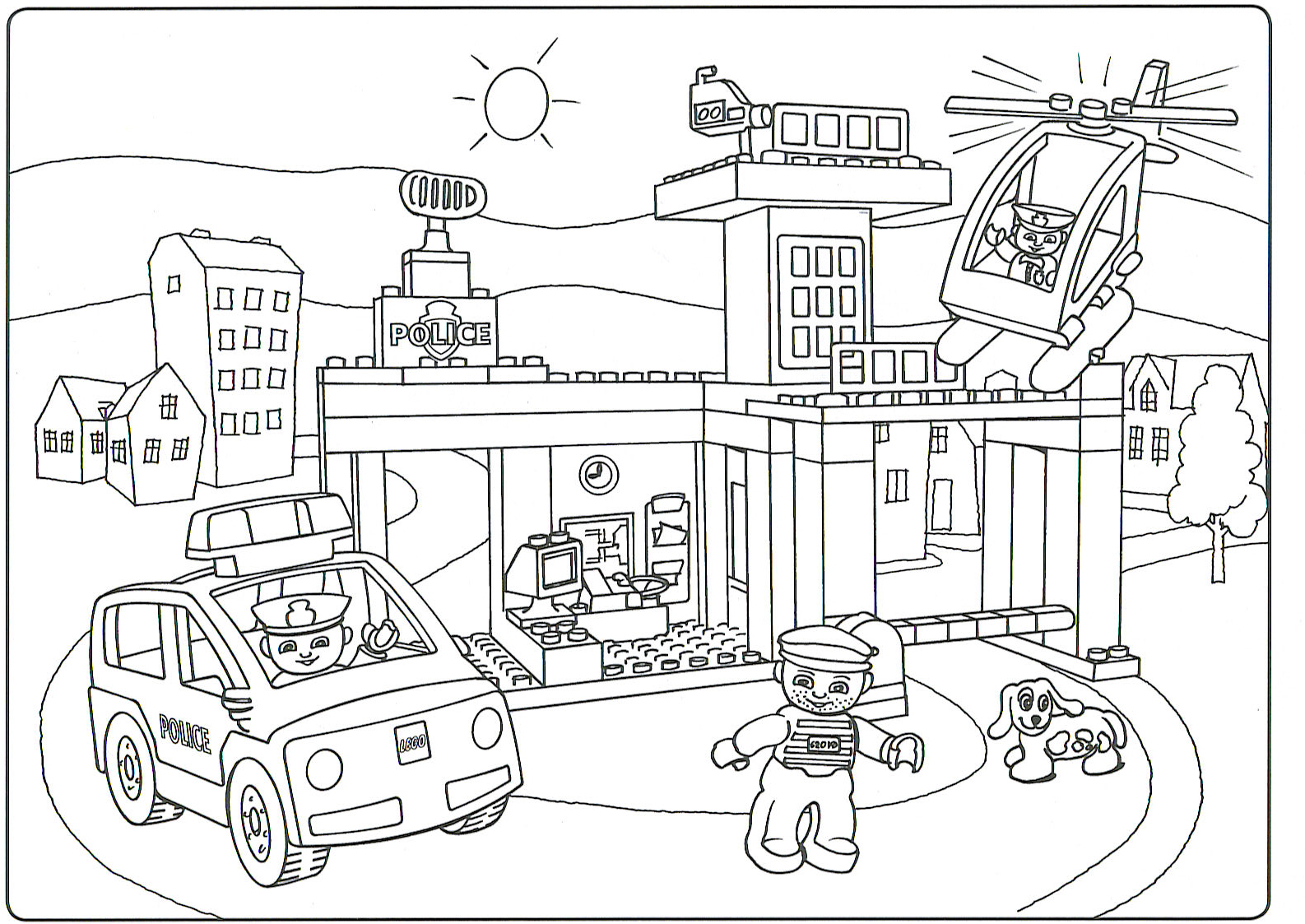 Coloring Pages Lego Train Coloring Pages lego city coloring page eassume com police legocity pages for kids color