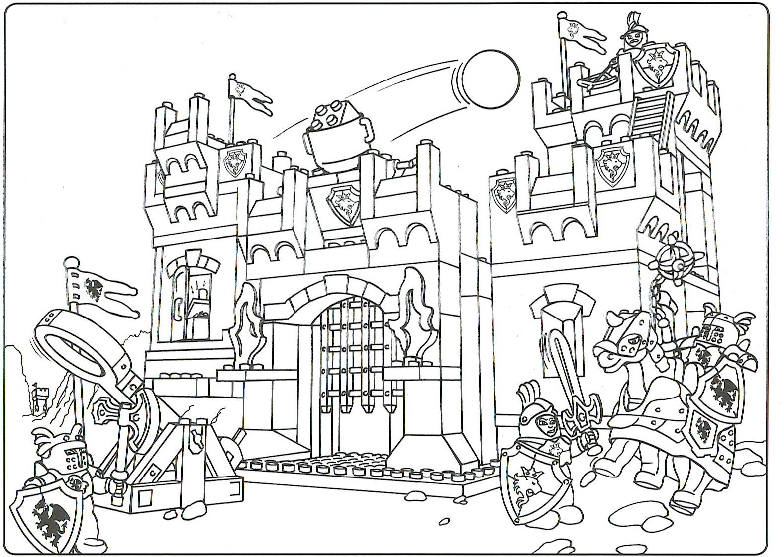 Brick Lego Colouring Pages Page 2