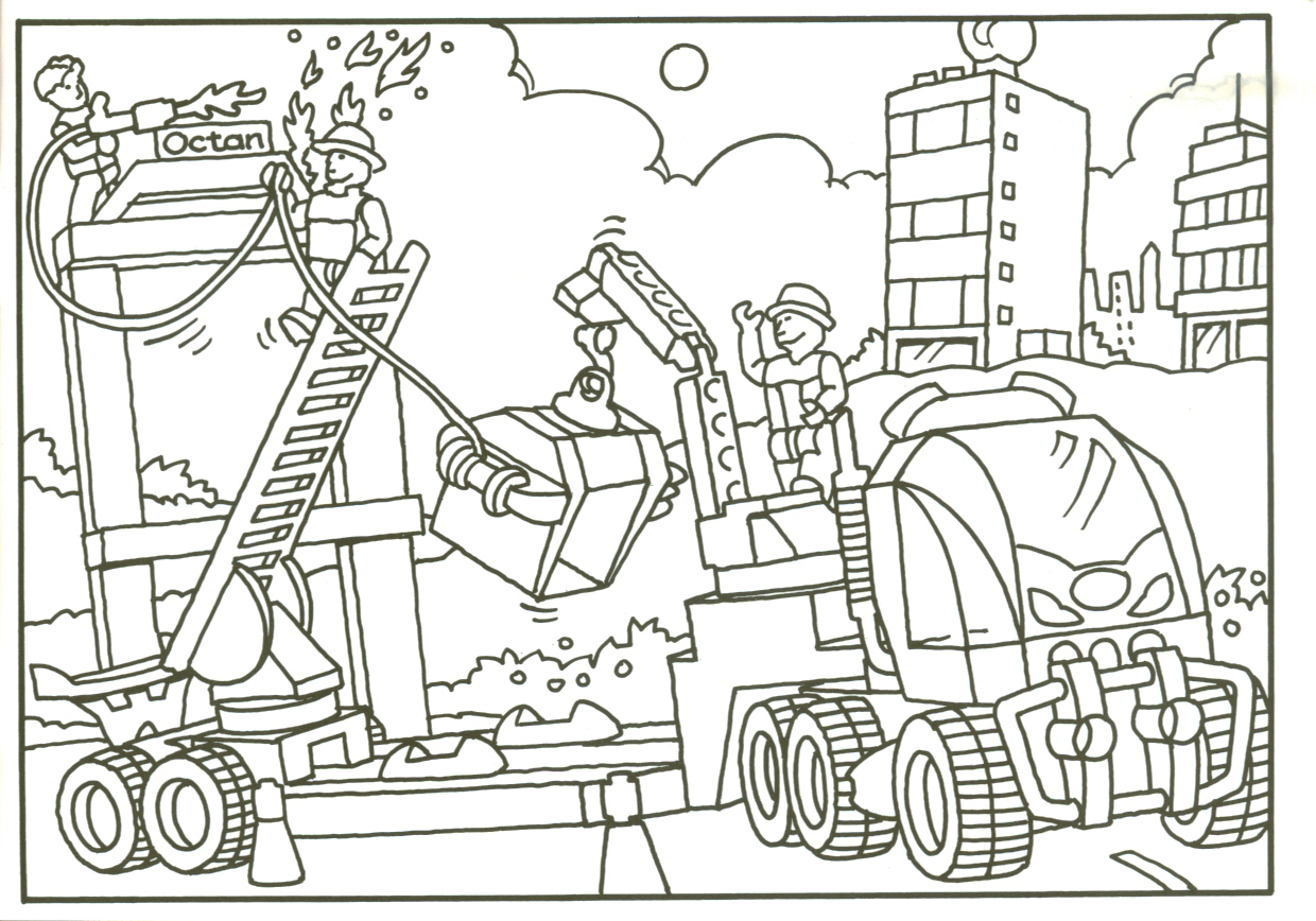 Ebricks Gratis Jack Stone Lego Kleurplaten The Tank Coloring Pages